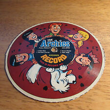 vintage 70's The ARCHIES Cereal Cardboard Record 33 1/3RPM #4