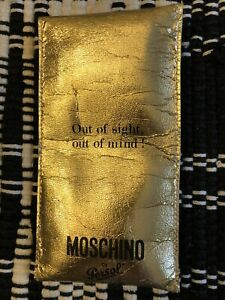 Moschino By Persol Gold Eyeglass Case Out Of Sight Out Of Mind