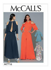 M7716 Misses' Dresses and Jumpsuit 14-22 McCall's Sewing Pattern