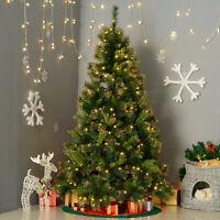 6ft Pre-Lit Aspen Fir Christmas Tree Artificial Spruce Tree 200 Clear Lights