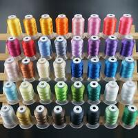 40 Colors Polyester Sewing & Embroidery Machine Thread Kit 500YD Each - 40WT