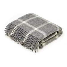 Bronte By Moon Bronte Natural Windowpane Throw - Grey