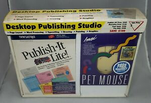 Publish It Lite! Vintage Desktop Computer Publishing Software w/ Pet Mouse