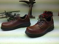 VINTAGE RED WING MADE IN USA BROWN LEATHER STEEL TOE OIL RESIST WORK SHOES 13D