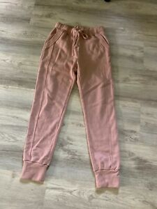Free People Womens Sz XS FP Movement Work it Out Joggers Pants Cameo Dust Pink