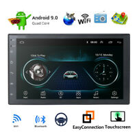 "7"" Android 9.0 Double DIN Dash Car Radio Stereo GPS Head Unit SAT NAV WiFi"