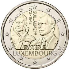 Luxemburg 2018 - Willem I - Guillaume - 2 euro CC - UNC