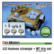 Def. modelo, DM35008, nos Humvee estiba + Mt Neumático Set, 1/35