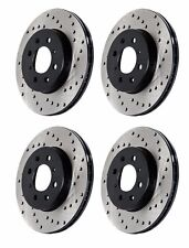 STOPTECH 2004 VOLKSWAGEN VW R32 MK4 FRONT AND REAR DRILLED BRAKE ROTORS DISCS