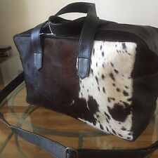 NWT Found Object cowhide leather gym bag