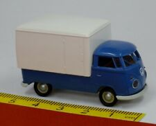 VW T1b Bulli mit Kofferaufbau Pritsche blau - Brekina 32451
