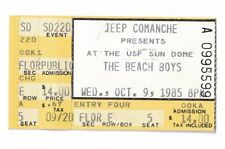 1985 THE BEACH BOYS AT THE USF SUN DOME TICKET STUB OCTOBER 9, 1985