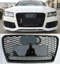 For Audi A7 S7 RS7 2011-2014 Front Grille Full Black + Chrome or Black Emblem