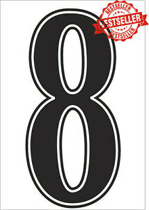 "FOOTBALL SHIRT NUMBER 9""  / SOCCER / RUGBY / IRON ON / HEATPRESS  Vinyl BLACK"