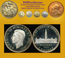 Canada 1939  Dollar Rare Mirror Specimen, PCGS SP 63+, Deep Mirrors, Beauty