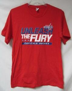 "Washington Capitals Youth Size L or XL ""Unleash The Fury"" T-Shirt A1 4347"