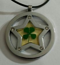 NEW lucky 4 leaf clover rhinestone star necklace