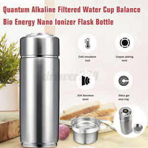 1pcs Alkaline Filtered Water Cup Balance Bio Energy Nano Ionizer Flask Bottle