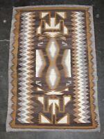 "Handsome Navajo rug Natural Wool Tones - Storm Pattern Variant 61"" x 41"""
