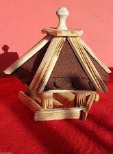 Mangeoire Nichoir 6-angulaire Villa / à Oiseaux Nr.17 avec Bitume Rouge