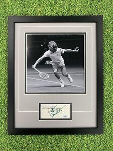 Vitas Gerulaitis Signed Cut JSA Auto Custom Framed Tennis
