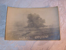 WWI  MILITARY 31CM SHELL EXPLODING  POSTCARD    T*