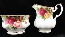 Lovely Royal Albert Old Country Roses Crema Brocca & sugar bowl