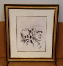 MORETTI Raymond - Lithographie signée, De Gaulle/Malraux n°188/199 (1988)