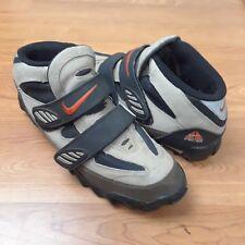 NIKE ACG Bicycle Cycling Mountain Bike Shoes Gray Black Mens Size 12D