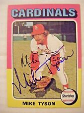 MIKE TYSON signed CARDINALS 1975 Topps baseball card AUTO Autographed CUBS #231