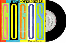 "THE GO GO'S - HEAD OVER HEELS / GOOD FOR GONE - 7"" 45 VINYL RECORD PIC SLV 1984"
