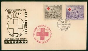 Mayfairstamps Philippines FDC 1956 National Red Cross Children Nun First Day Cov