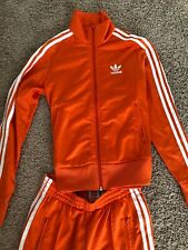 AdidasOrange SUPERSTAR TRACK SUIT Jacket Sweat Shirt Top & PANT firebird Sz S