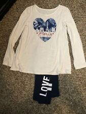 Justice For Girls Size 10 Outfit Set Of 2 Pants And Shirt Paris