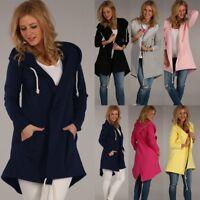 Women Long Sleeve Hoodies Cardigan Jacket Ladies Jumper Casual Outwear Long Coat