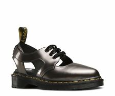 Dr Martens Women's Genna Spectra Patent Cut Out Oxford Shoes Pewter UK Size 6
