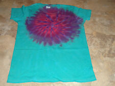 New Womens S Tie Dye Dyed Tee Hippie Top Tshirt Small Short Sleeve