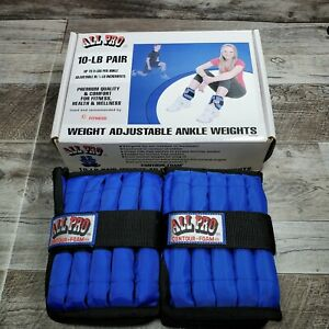 ALL PRO CONTOUR-FOAM Pair of 5lb Ankle Weights. EACH is ADJUSTABLE 1/2 - 5 LB