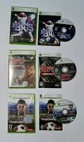 The Bigs, UFC 2009 Undisputed, and PES 2008 Lot for Xbox 360 (READ DESCRIPTION)