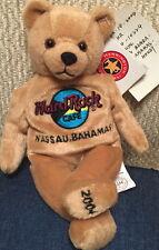 Hard Rock Cafe NASSAU 2004 Rare PROTOTYPE Teddy Beara BEAR HRC BAHAMAS FLAG Logo