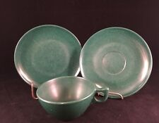 Branchell Color Flyte Melmac Green Cup Saucer Bread Dessert Plate Lot Plastic