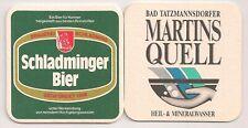 """Schladminger Bier - alter Bierdeckel """"Martinsquell"""""""