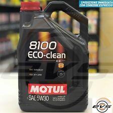 5 Litri Motul 8100 Eco-clean 5W30 Olio Motore 100% Sintetico C2 FIAT 9.55535-S1