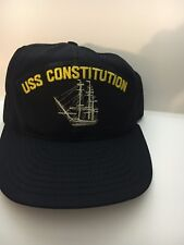 "U S NAVY CAP  ""USS CONSTITUTION    "" Made By AJD"