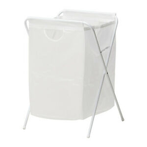 Ikea JALL White Laundry Washing Linen Clothes Basket Bag - Capacity: 8kg/70L NEW
