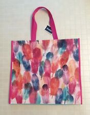 Marshalls Shopping Travel Tote Bag -Colorful Feathers- Reusable Eco Friendly NWT