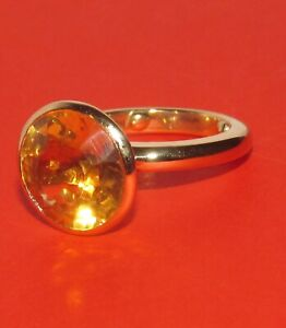 STUNNING SECONDHAND18ct YELLOW GOLD  CITRINE SOLITAIRE RING SIZE I