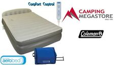 COLEMAN AEROBED QUEEN DOUBLE HEIGHT HEADBOARD MATTRESS AIR BED WITH PUMP