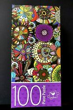 "NEW CARDINAL Jigsaw Puzzle ~ MANDALA Puzzle FLOWERS DOODLES 15"" X 11"" 100 pieces"