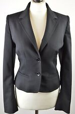 Superb women's Hobbs London jet black wool blend fitted jacket size 12